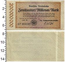 Изображение Банкноты Веймарская республика 200000000 марок 1923  XF
