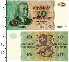 Изображение Банкноты Финляндия 10 марок 1980  XF Паасякиви