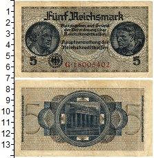 Изображение Банкноты Третий Рейх 5 марок 1939  XF- Берлин