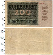 Продать Банкноты Веймарская республика 100 марок 1923