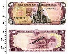Изображение Банкноты Доминиканская республика 50 песо 1978  UNC Образец