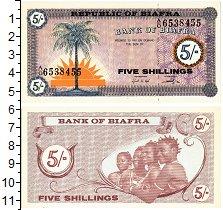 Продать Банкноты Биафра 5 шиллингов 1967