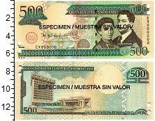 Изображение Банкноты Доминиканская республика 500 песо 2006  UNC Образец