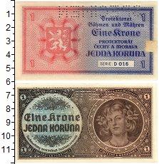 Изображение Банкноты Богемия и Моравия 1 крона 1940  XF