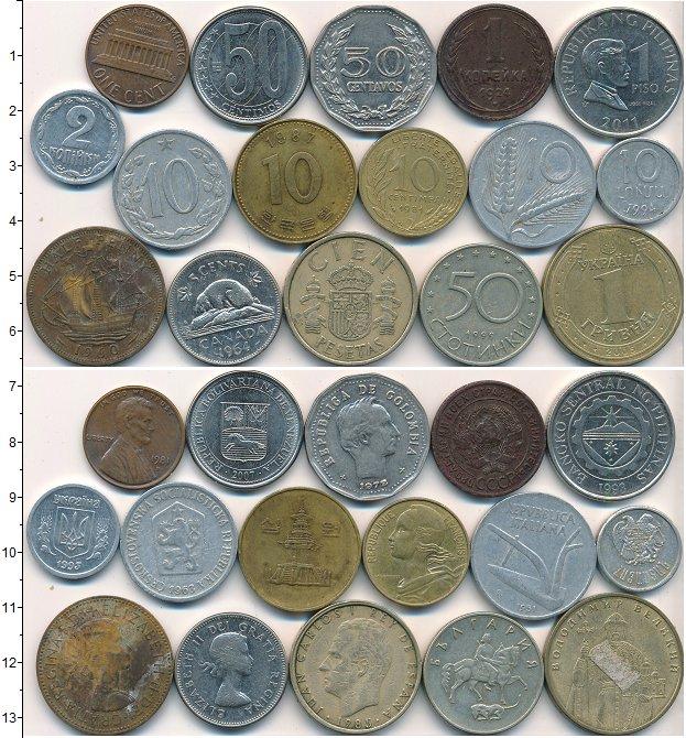 Изображение Лоты монет для начинающих нумизматов Монеты стран мира Лот №01782 0