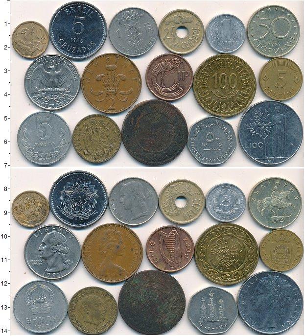 Изображение Лоты монет для начинающих нумизматов Монеты стран мира Лот №01783 0