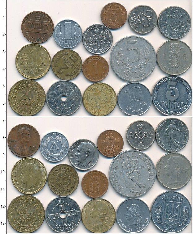 Изображение Лоты монет для начинающих нумизматов Монеты стран мира Лот №01788 0