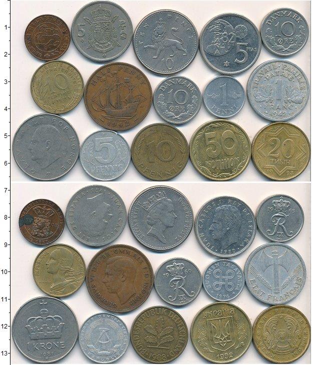 Изображение Лоты монет для начинающих нумизматов Монеты стран мира Лот №01790 0