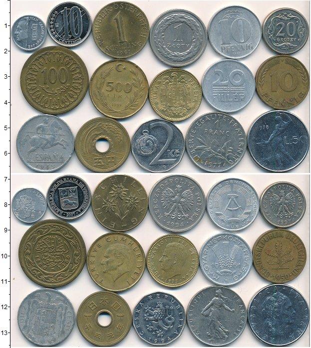 Изображение Лоты монет для начинающих нумизматов Монеты стран мира Лот №01792 0