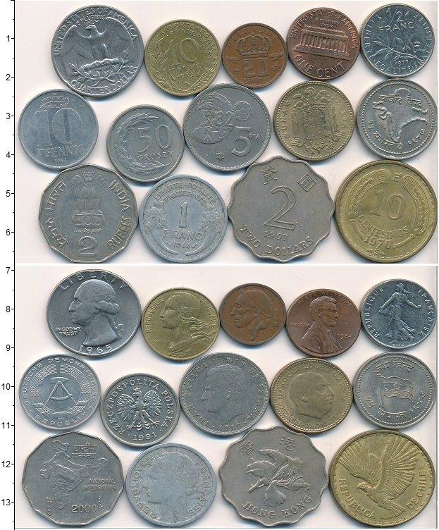 Изображение Лоты монет для начинающих нумизматов Монеты стран мира Лот №01794 0
