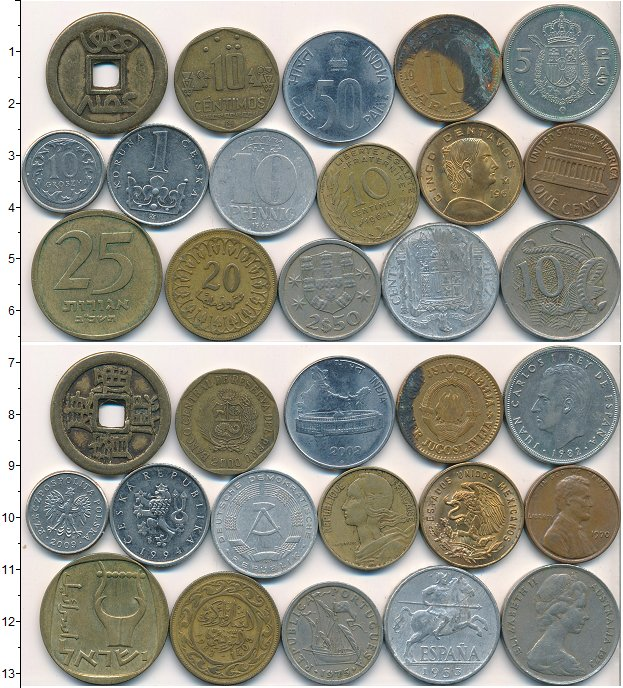 Изображение Лоты монет для начинающих нумизматов Монеты стран мира Лот №01799 0