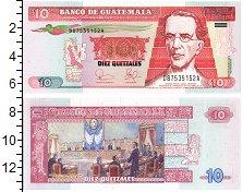 Изображение Банкноты Гватемала 10 куэталь 2003  UNC Портрет М.Г. Гранадо