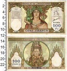 Изображение Банкноты Новая Каледония 100 франков 1939  XF
