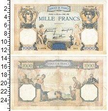 Изображение Банкноты Франция 1000 франков 1940  XF