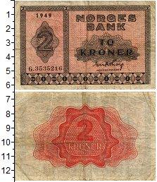 Изображение Банкноты Норвегия 2 кроны 1949  VF+
