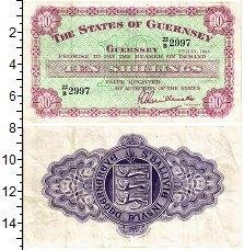 Изображение Банкноты Гернси 10 шиллингов 1966  XF-