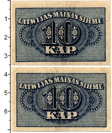 Изображение Банкноты Латвия 10 копеек 1920  XF