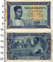Изображение Банкноты Мали 1000 франков 1960  VF