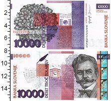 Изображение Банкноты Словения 10000 толар 2004  UNC Иван Цанкар