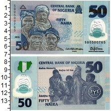 Изображение Банкноты Нигерия 50 найра 2015 Пластик UNC