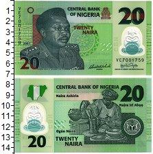Изображение Банкноты Нигерия 20 найра 2007 Пластик UNC