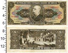 Изображение Банкноты Бразилия 5 крузейро 1964  XF Жозе Мария да Сильва