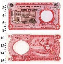 Изображение Банкноты Нигерия 1 фунт 1967  UNC-