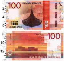 Продать Банкноты Норвегия 100 крон 2016
