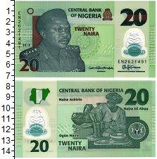 Изображение Банкноты Нигерия 20 найра 2018 Пластик UNC