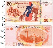 Изображение Банкноты Тунис 20 динар 2011  UNC