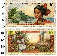 Изображение Банкноты Гваделупа 10 франков 1963  XF-