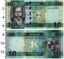 Изображение Банкноты Южный Судан 10 фунтов 2015  UNC