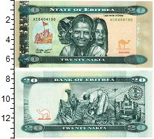 Изображение Банкноты Эритрея 20 накф 2012  UNC