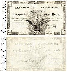 Изображение Банкноты Франция 400 ливров 1792  XF Революция