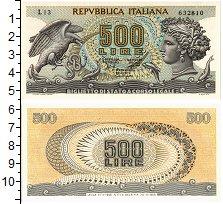 Изображение Банкноты Италия 500 лир 1966  UNC-
