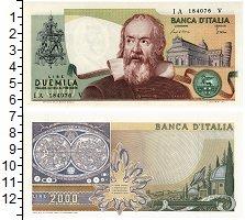 Изображение Банкноты Италия 2000 лир 1983  UNC Галилео Галилей