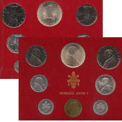 Изображение Подарочные монеты Европа Ватикан Набор 1963 года 1963  UNC