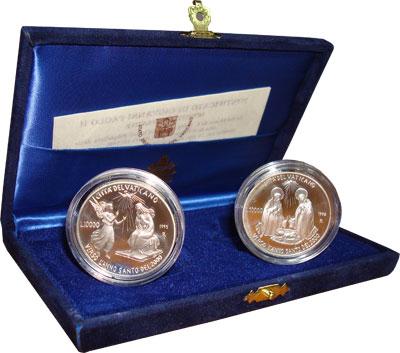 Изображение Подарочные монеты Европа Ватикан Святой год 1995 Серебро Proof