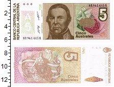 Продать Банкноты Аргентина 5 аустралес 1989