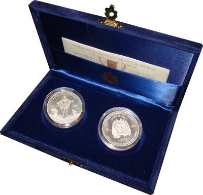 Изображение Подарочные монеты Ватикан Святой год 2000 1999 Серебро Proof