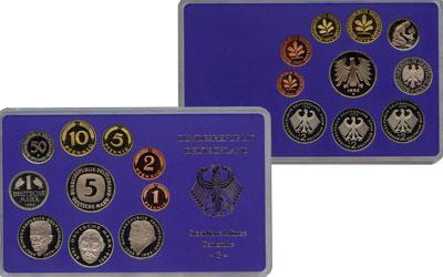 Изображение Подарочные монеты ФРГ Монеты 1992(чеканка Гамбурга) 1992  AUNC