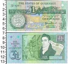 Изображение Банкноты Великобритания Гернси 1 фунт 2013  UNC