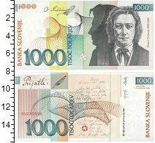 Изображение Банкноты Европа Словения 1000 толар 2005  UNC