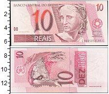 Изображение Банкноты Бразилия 10 реалов 0  UNC