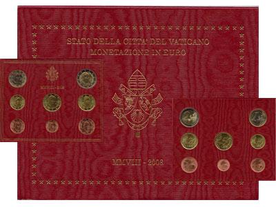 Изображение Подарочные монеты Ватикан Евронабор 2008 2008