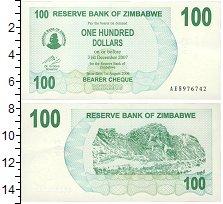 Изображение Банкноты Зимбабве 100 долларов 2006  UNC