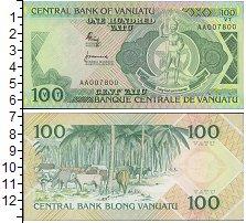 Изображение Банкноты Австралия и Океания Вануату 100 вату 1982  UNC