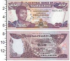 Изображение Банкноты Африка Свазиленд 20 эмалангени 2006  UNC