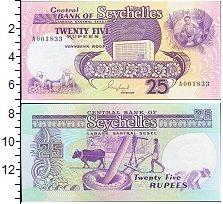 Изображение Банкноты Сейшелы 25 рупий 1989  UNC Обработчики кокосовы