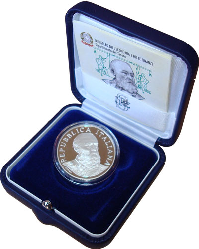 Изображение Подарочные монеты Италия 5 евро 2008 Серебро Proof